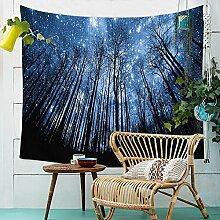 Wald Sternenhimmel Wandteppich Natur Landschaft