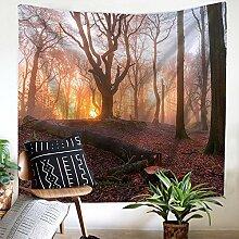 Wald Wandteppich Wandbehang Natur Landschaft
