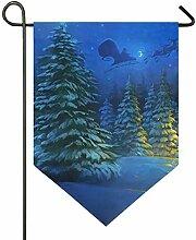 Wald Weihnachtsbaum Nacht Gartenhaus für Rasen