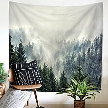 Wald Wolke Wandteppich Wandbehang Natur Landschaft