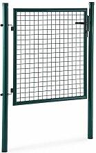 Waldbeck Duraporta 1510 Gartentor Gittertor (1,5m hoch, Stahl, Sicherheitsschloss mit 3 Schlüsseln, 5x5 cm Maschenweite) grün