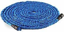 Waldbeck Water Wizard Extend • flexibler Gartenschlauch • Wasserschlauchverlängerung • dehnbar bis 30 Meter • Bewässerung • Klickverbindung • selbstaufrollend • Wasserhahn Adapter • Schnellkupplung • knickfest • federleicht • blau
