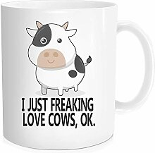 Waldeal 1 Stück I Just Freaking Love Cows, OK,