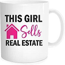 Waldeal The Girl Sell Real Estate Kaffeetasse