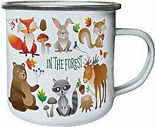 Waldtiere Bär Elch Fuchs Kaninchen Eichhörnchen