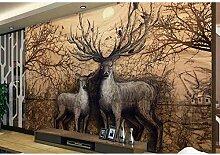Waldtiere Landschaft Fototapete Für Wohnzimmer