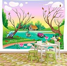 Waldtiere Wandbild Kindergarten Foto-Tapete Kinder Schlafzimmer Haus Dekor Erhältlich in 8 Größen Riesig Digital