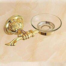 WALH Kreative Badezimmer kontinentales geschnitzt antik gold Seifenschale
