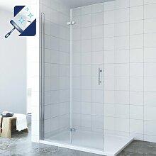 ® Walk in Dusche Duschabtrennung Faltbar Klappbar
