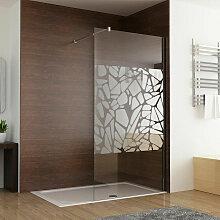 Walk in Dusche Duschwand 80 x 195cm Duschtrennwand