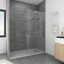 Walk In Dusche mit Handtuchhalter 120x195 cm 8 mm