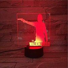 Walking Dead - Illusionslicht 3D, 7-Farbverlauf,