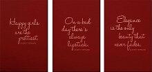 Wall-Art Alu-Dibond-Druck Zitate von Audrey
