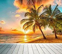 WALL ART DESIRE Fototapete, tropischer Strand,