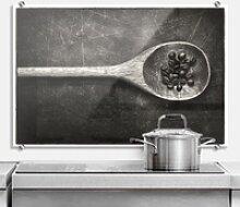 Wall-Art Küchenrückwand Spritzschutz Kochlöffel