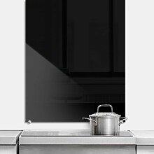 Wall-Art Küchenrückwand Spritzschutz Schwarz