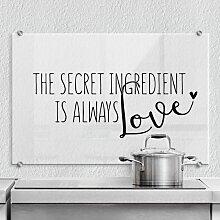 Wall-Art Küchenrückwand The secret ingredient is