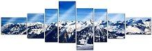 Wall-Art Mehrteilige Bilder XXL Alpen Panorama