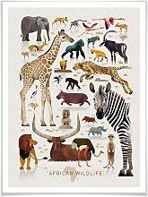 Wall-Art Poster Africa, Afrika, (1 St.), Poster,