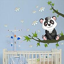 wall art R00077 Wandaufkleber für Kinder Baby panda, bunt, 30 x 120 x 0,1 cm