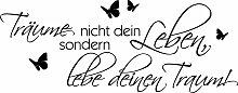 Wall-Art Wandspruch 240x93 cm schwarz Wandtattoos