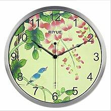 Wall Clock Metall ruhigen Sweep Sekunden