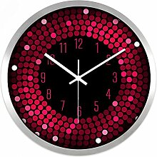 Wall Clock Restaurant Bar Living Zimmer Creative modern Fashion Silent Clock hell Farbe Clock, 35 cm
