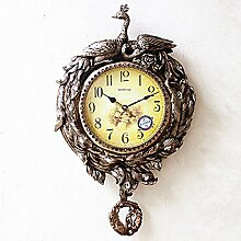 WALL CLOCK Wanduhr, 20 inches Silver