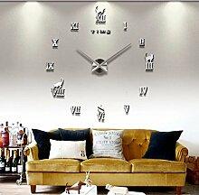 WALL CLOCK Wanduhr, Fashion silver