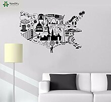 Wall Decal In God We Trust United States Map