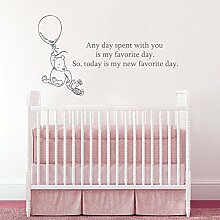 Wall Decals Quotes Winnie the Pooh Quote - Any day