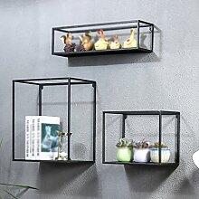 WALL RACKS Satz von 3 Cube Wandregale schwimmende Display Wandregal DIY Pflanze Decor Wandhalterung für Schlafzimmer, Wohnzimmer, Bad, Küche, Büro ( Farbe : 1 )