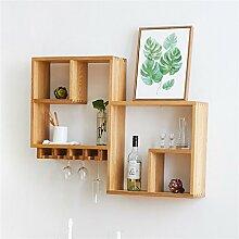 Wall Shelves-Jack Mall Weiße Eiche Nussbaum