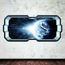 Wall Smart Designs Raumschiff Erde Fenster Stars