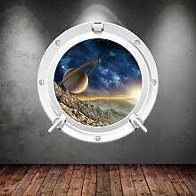 Wall Smart Designs Space Porthole Planeten