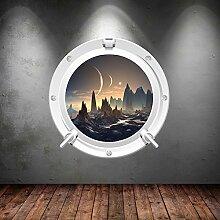 Wall Smart Designs Space Porthole Planeten