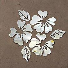 Wall sticker aufkleber 2017 Acryl moderne Pferd Schmetterling Spiegel diy neue Blume promotion Verkauf 3d Home Dekoration, Silber