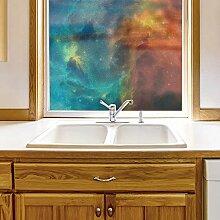 wall26 Fensterfolie für Sichtschutz, Galaxie,