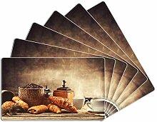 Wallario 6er Set Frühstücksbrettchen aus Glas,