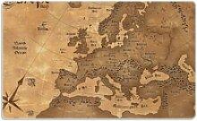 Wallario Frühstücksbrett Alte Weltkarte Karte