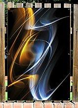 Wallario Garten-Poster Outdoor-Poster - Abstraktes Design in Premiumqualität, Größe: 61 x 91,5 cm, für den Außeneinsatz geeigne