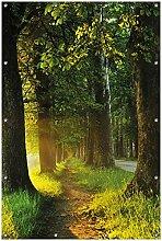 Wallario Garten-Poster Outdoor-Poster, Allee bei