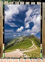 Wallario Garten-Poster Outdoor-Poster - Alpenluft in Premiumqualität, Größe: 61 x 91,5 cm, für den Außeneinsatz geeigne