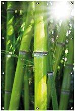 Wallario Garten-Poster Outdoor-Poster, Bambus im