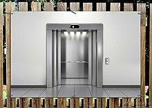Wallario Garten-Poster Outdoor-Poster - Fahrstuhl in Premiumqualität, Größe: 61 x 91,5 cm, für den Außeneinsatz geeigne