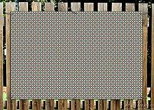 Wallario Garten-Poster Outdoor-Poster - Muster mit Kreuzen, Kreisen und Vierecken, in rot, braun und grün in Premiumqualität, Größe: 61 x 91,5 cm, für den Außeneinsatz geeigne