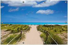 Wallario Garten-Poster Outdoor-Poster, Sandweg zum