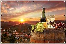 Wallario Garten-Poster Outdoor-Poster, Wein