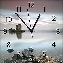 Wallario Glas-Uhr Echtglas Wanduhr Motivuhr • in