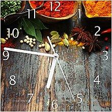 Wallario Glas-Uhr Echtglas Wanduhr Motivuhr; in